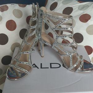 Rhinestone gladiator heels